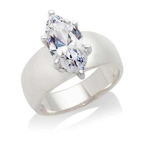 3798bebb444b0f 3ct Absolute™ Marquise Solitaire Wide-Band Ring | diamond rings in ...