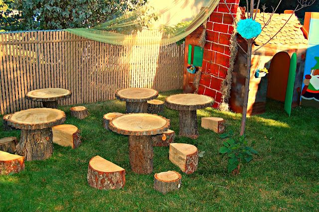 Amazing Kids Log Tables Chairs My Dream Backyard In 2019 Tree Machost Co Dining Chair Design Ideas Machostcouk