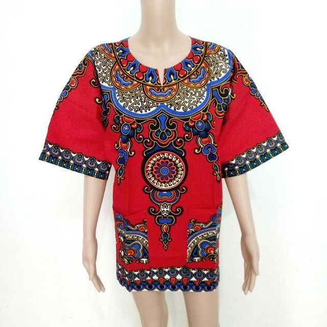 Summer Style Dashiki Dress Fashion Women Print Short Sleeve Party African Dress Plus Size Clothing