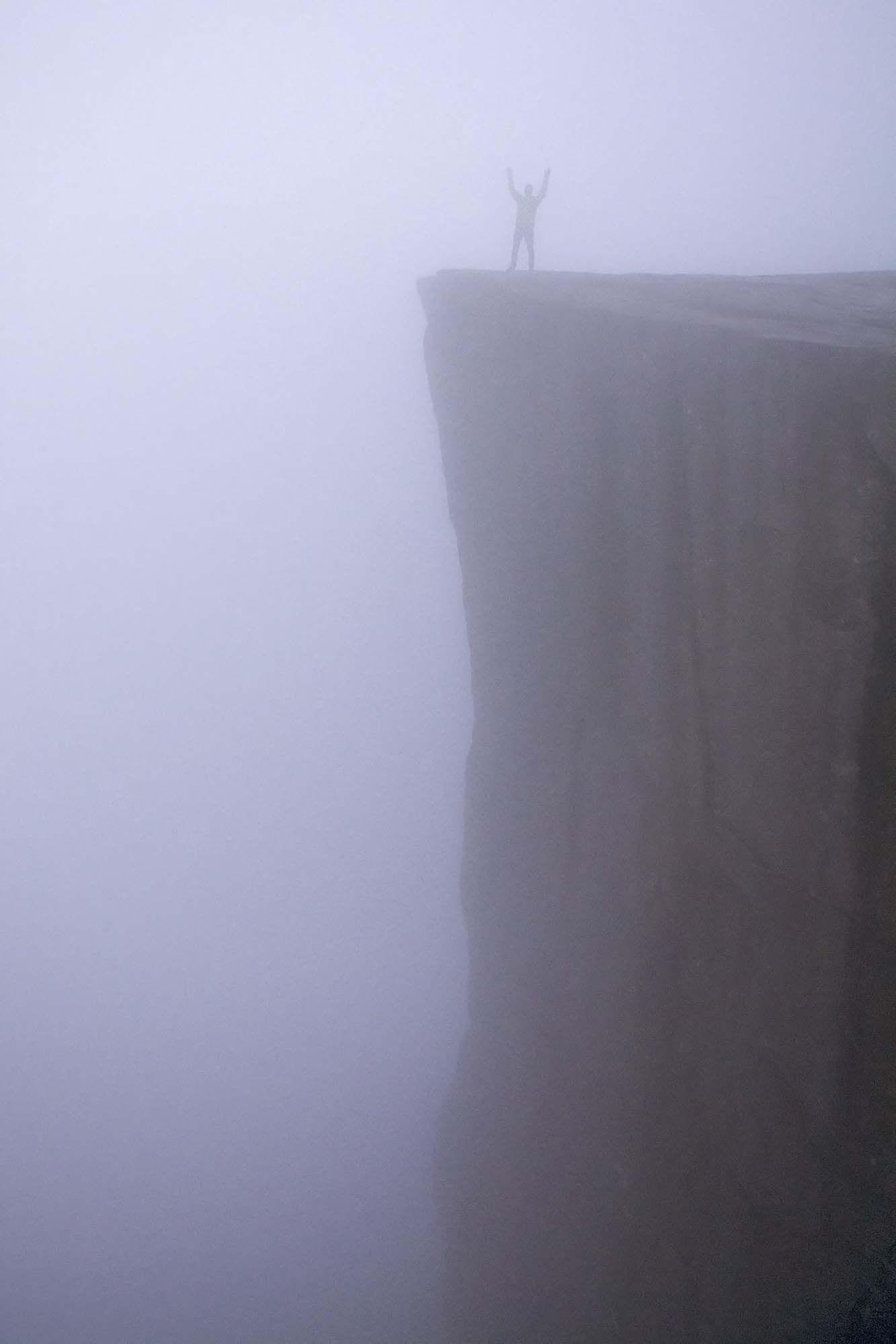 Preikestolen in dichte mist....