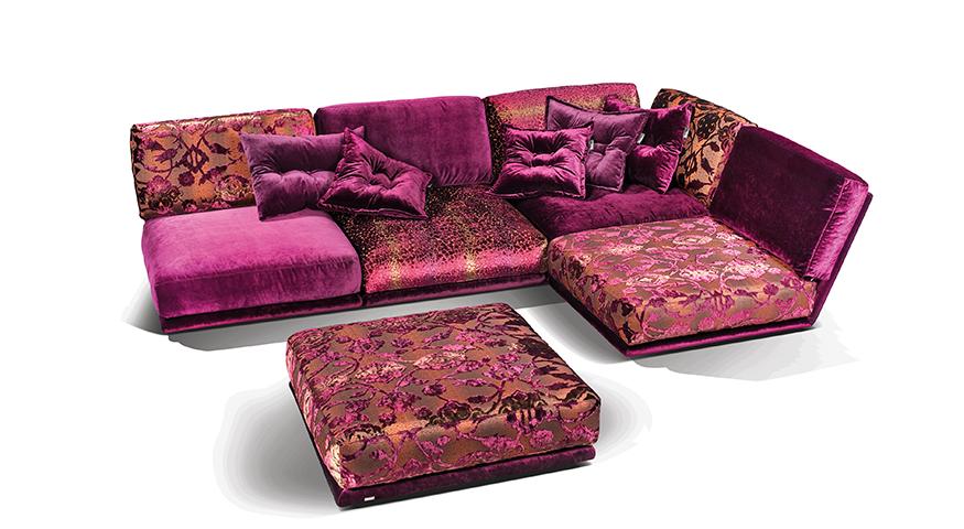 Napali Sofa Purple Sectional Lounge Signature Bretz Upholstery Bretz Collection Sofa Design Bohemian Sofa Loft Furniture