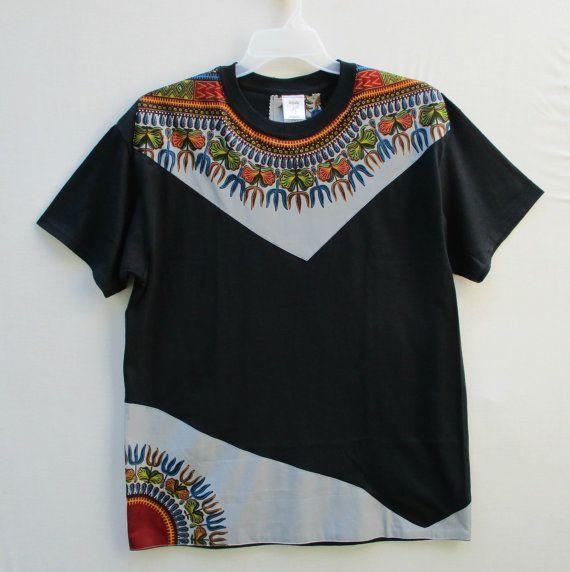 Dashiki T Shirt Tribal Print shirt African Print Shirt by