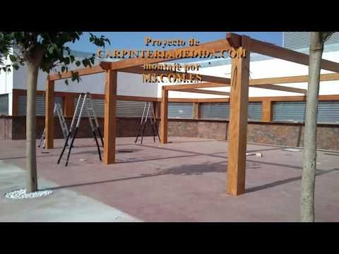 Montaje pérgolas y porches carpintería para restaurantes PARTE [14 ]MONT...