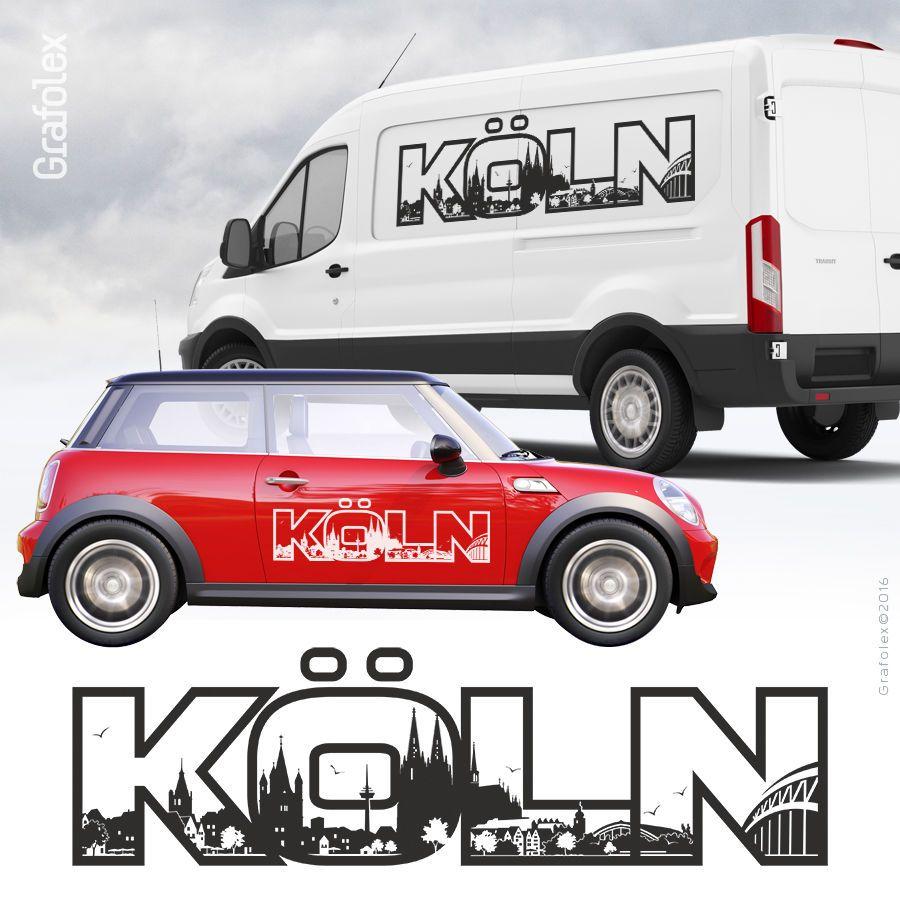Köln Autoaufkleber Autotattoo Autosticker Aufkleber Skyline