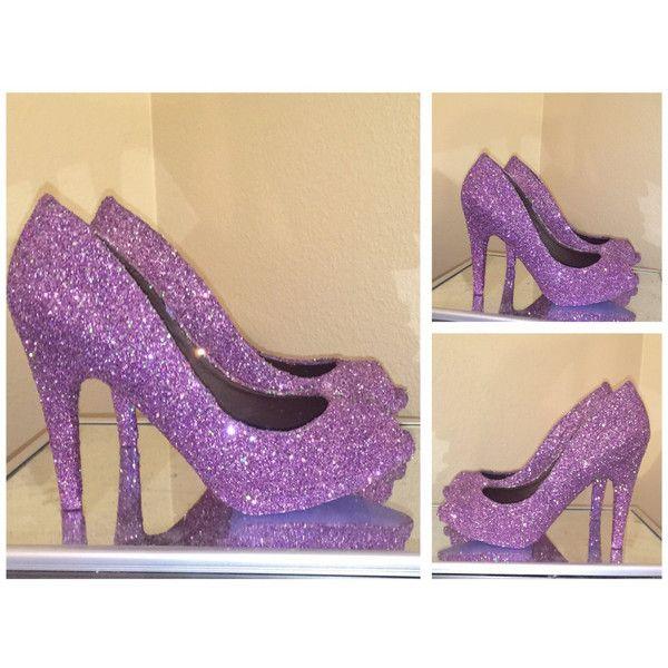 purple sparkle pumps