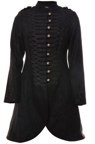 Hearts & Roses Military Women's Wool Coat - Hearts & Roses