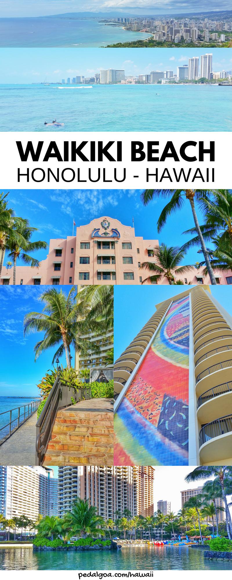 Waikiki Beach Hotels Map List Pink Royal Hawaiian Resort Sheraton Boardwalk
