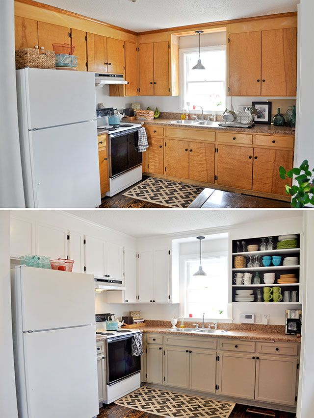 Cheap Ways To Redo Kitchen Cabinets Ceramic Sink Diy Inexpensive Cabinet Updates--add Trim And Paint ...