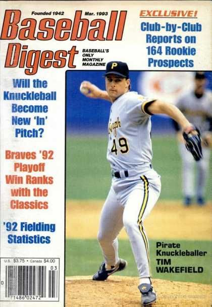 Baseball Digest Covers Baseball Digest Cover Tim Wakefield