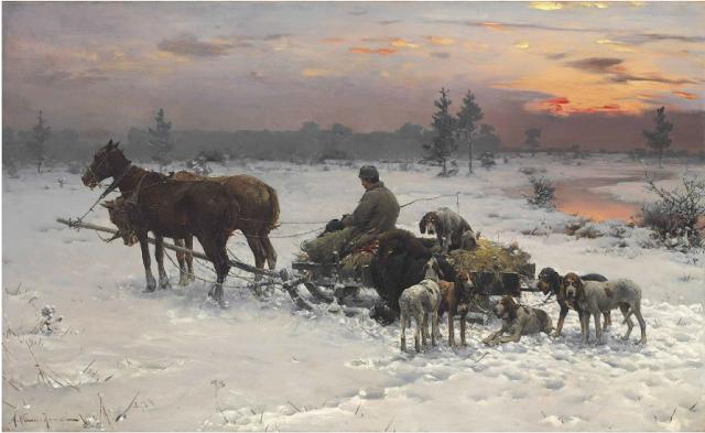 Alfred Von Wierusz Kowalski 1849 1915 Attendant Leur