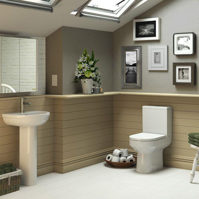 Nuie Harmony 4 Piece Bathroom Suite - CC Toilet & 1TH ...