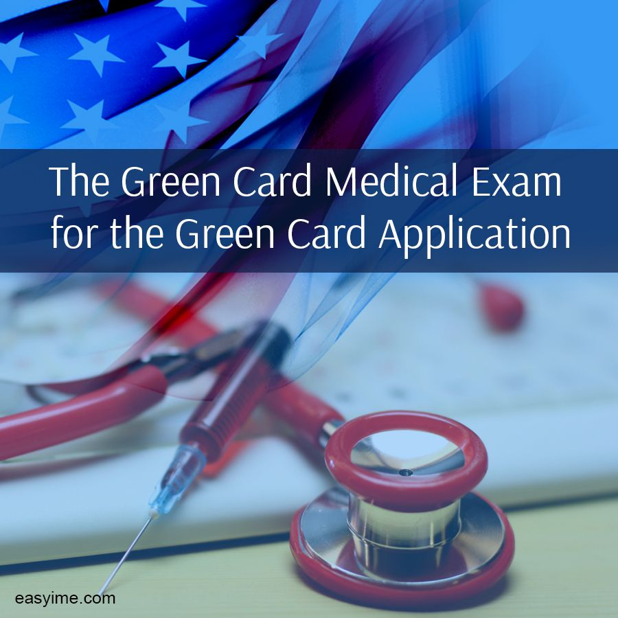 Image result for medical examination and green card