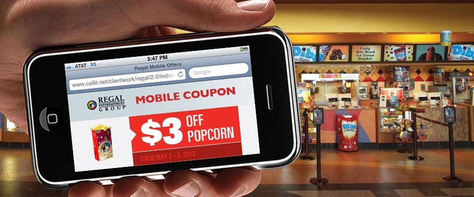 Regal Cinemas Coupon 3 Off Any Popcorn 5 2 5 5 Zap Pack Coupons Mobile Coupon