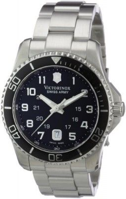 cc153e1896d Relógio Victorinox Swiss Army Men s 241436 Maverick Stainless Steel Black  Dial Watch  Relogio  Swiss Army