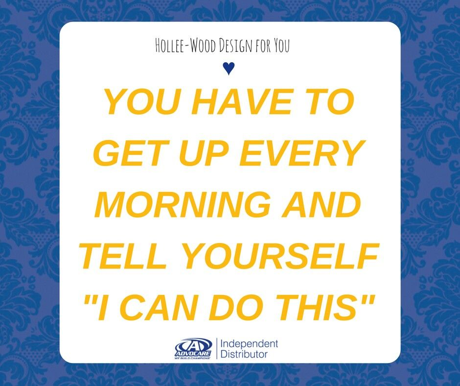 You can do it. Everyday.