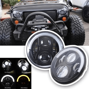 Jeep Led Headlights By Sunpie For Jeep Wranger Jk With Halo Angel