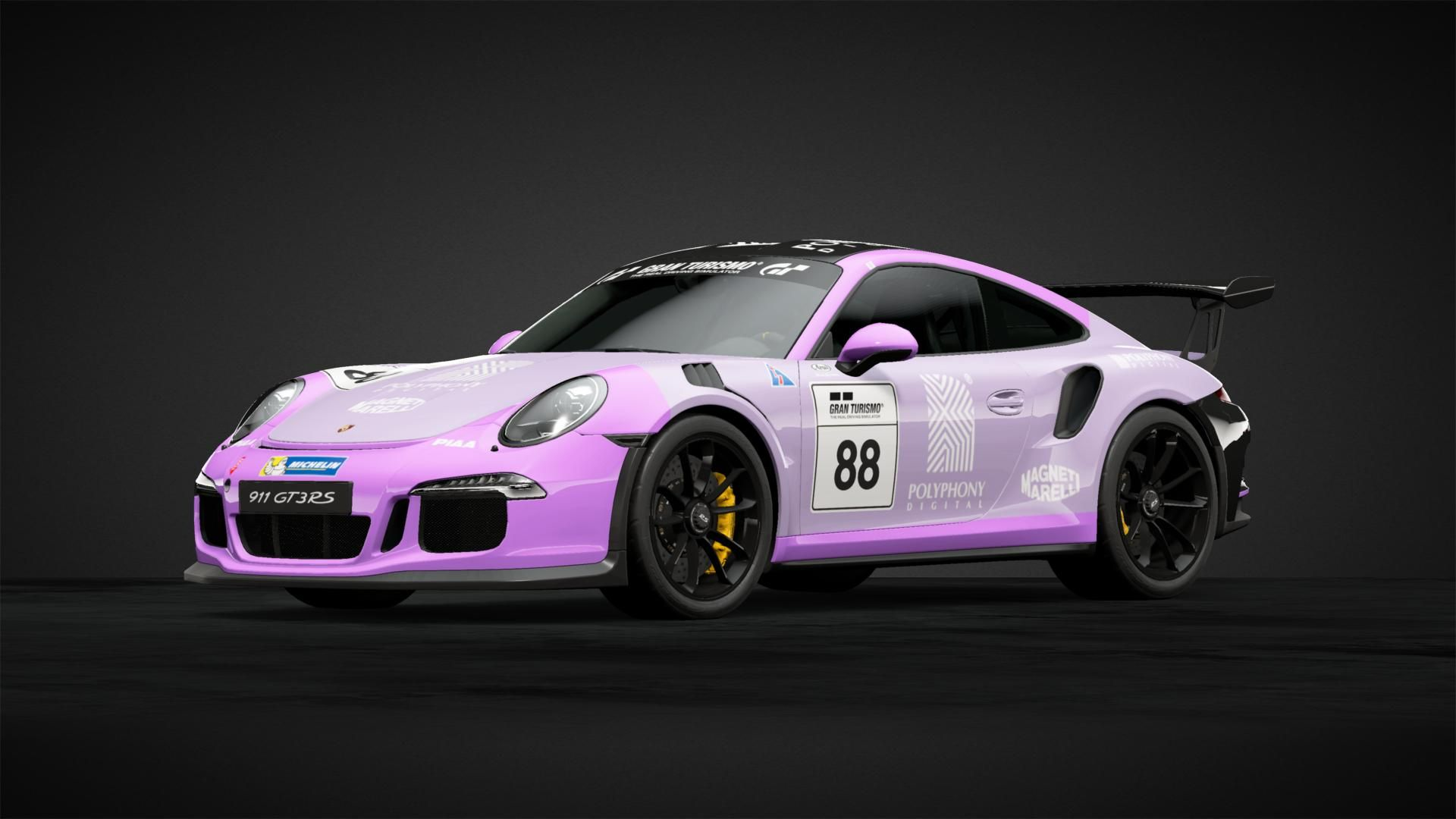 Porsche gt3 rs 991 livery design for gran turismos gt sport on sony playstation 4