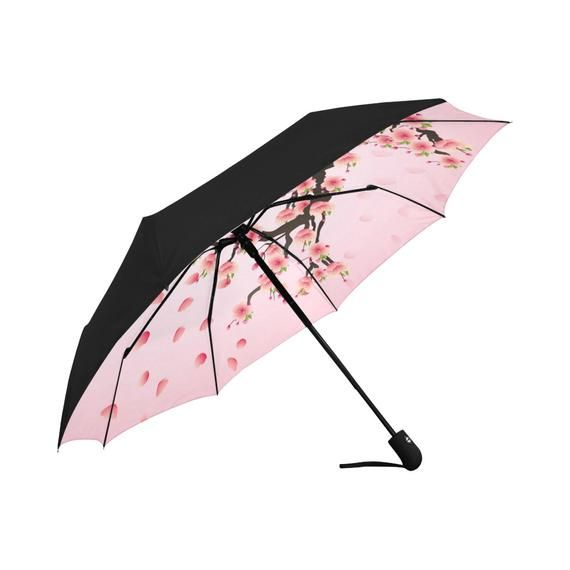 Sakura Pink Umbrella UV, Japanese Style Underside Printing UV Umbrella, Sun Umbrella UV, Rain Umbrella, Rain Gear #cuteumbrellas
