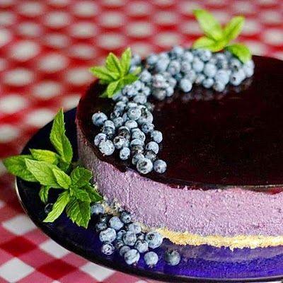 Delice des Bleuets (Blueberry Mousse Cake) 