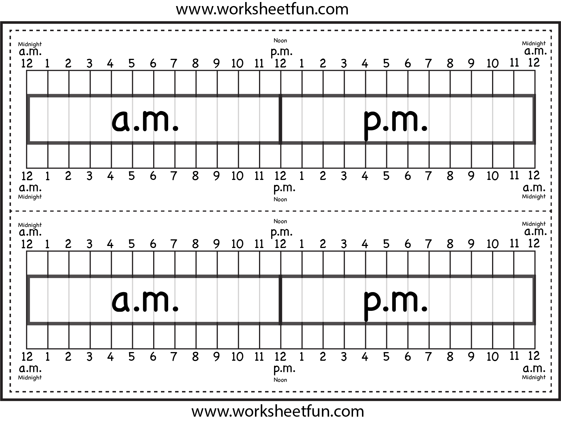 Elapsed Time Ruler Worksheet 2 Rulers On 1 Worksheet