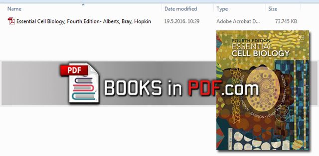 essential cell biology 4th edition pdf by alberts free download