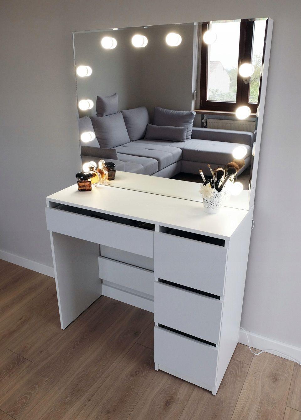 Toaletka Do Makijazu Wizazu Z Oswietleniem Lustro New Room Room Inspo Room Inspiration