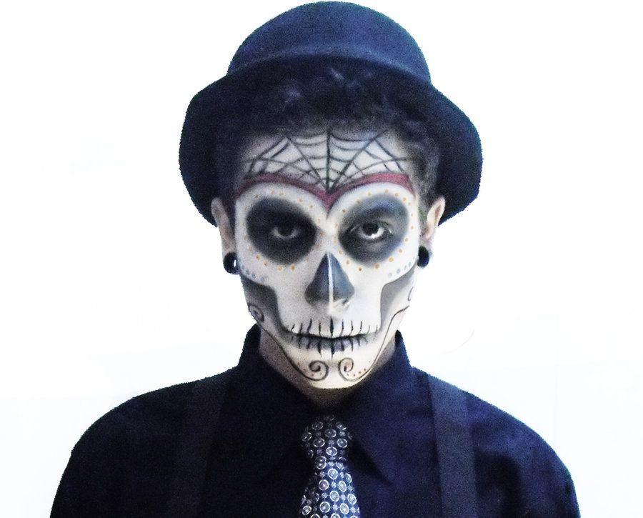 dia de los muertos / day of the dead make up for male   dia de los ...