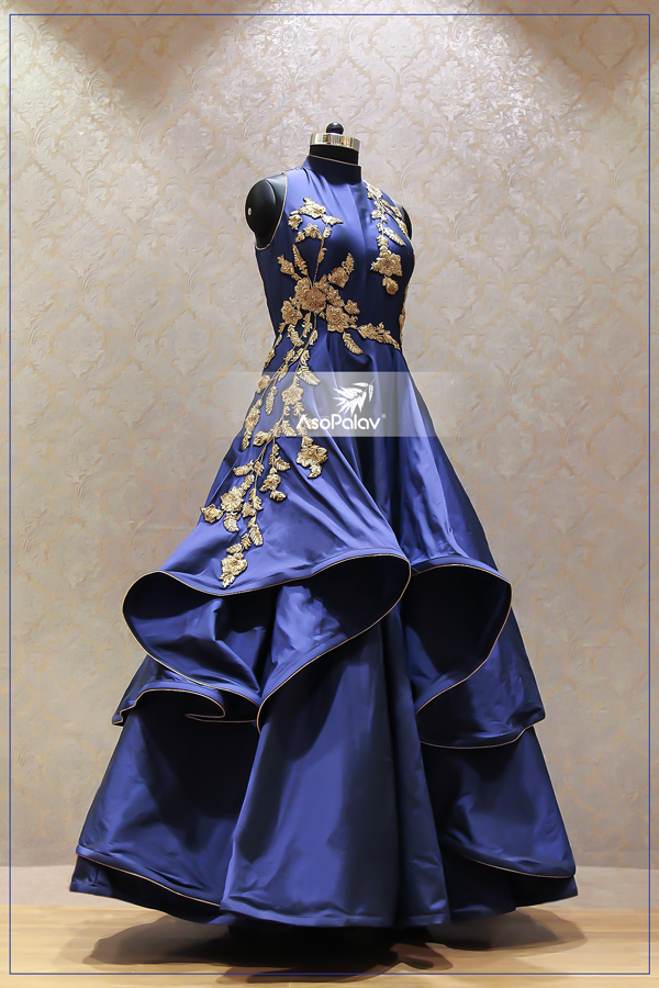 Blues that we <3 #DesignerGowns #Asopalav #Ahmedabad ...
