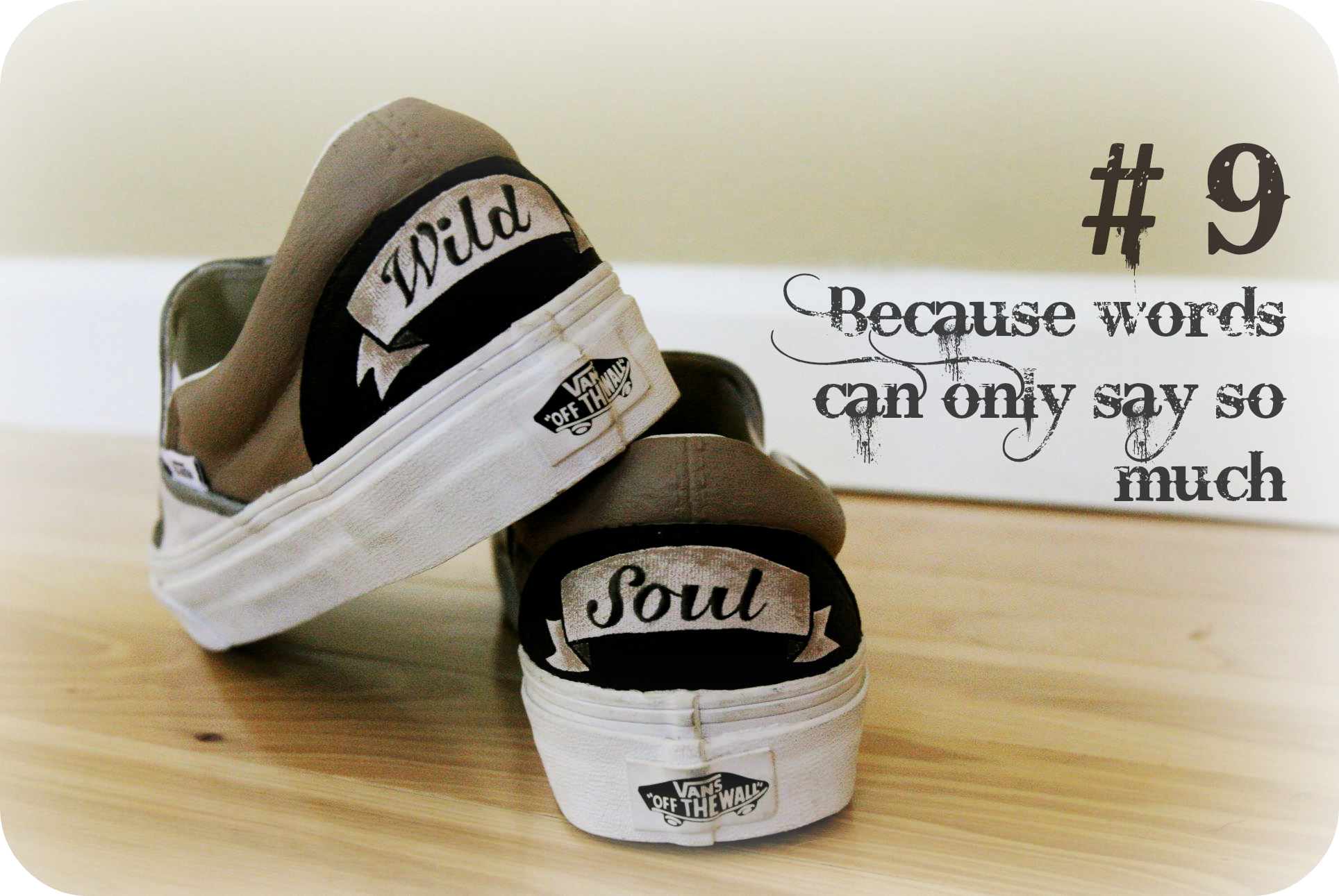 Reason #9 to buy custom to order, hand painted 1 of Two shoes. #vans #fanart