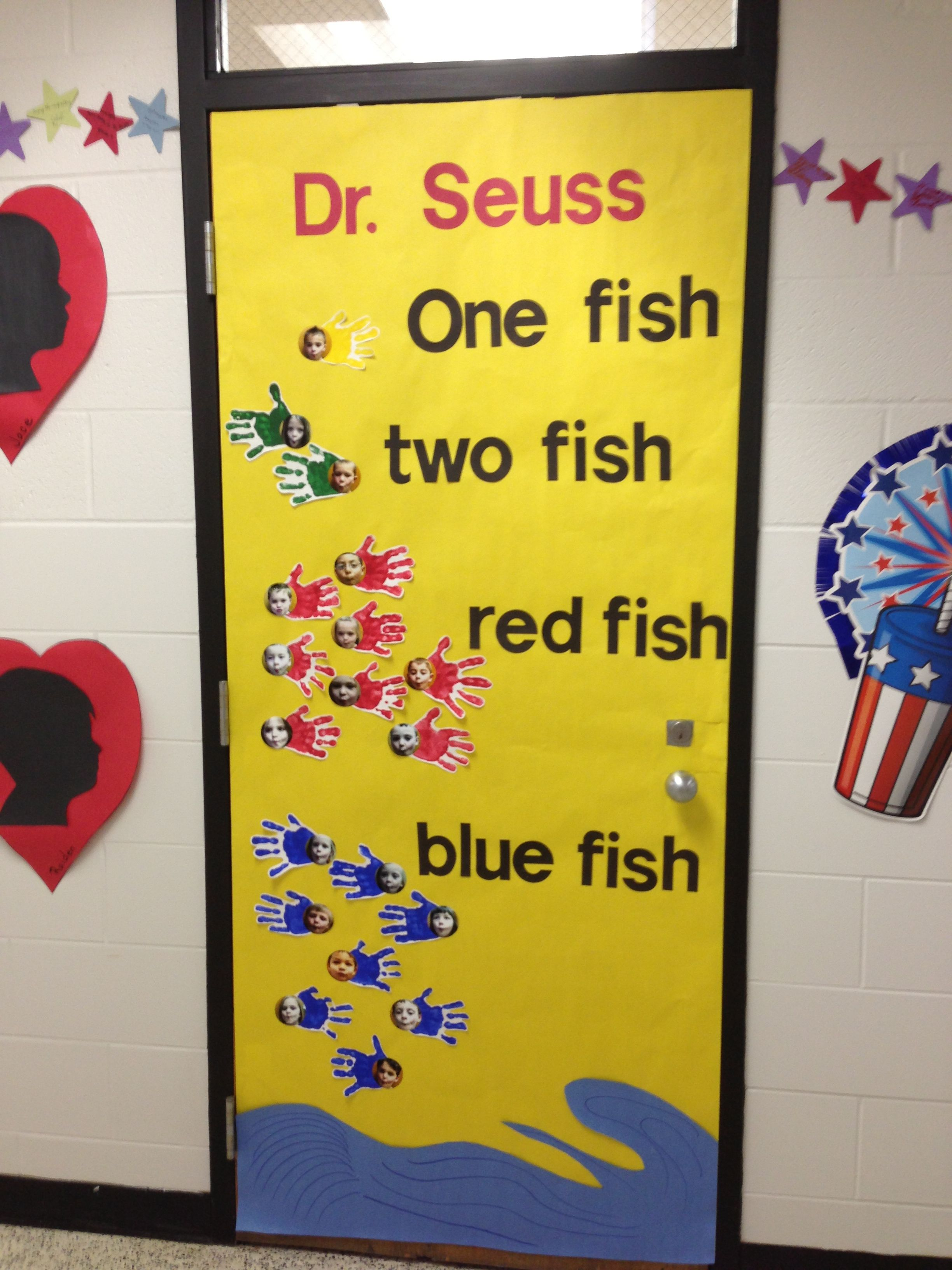 Dr Seuss One Fish Two Fish Red Fish Blue Fish Door