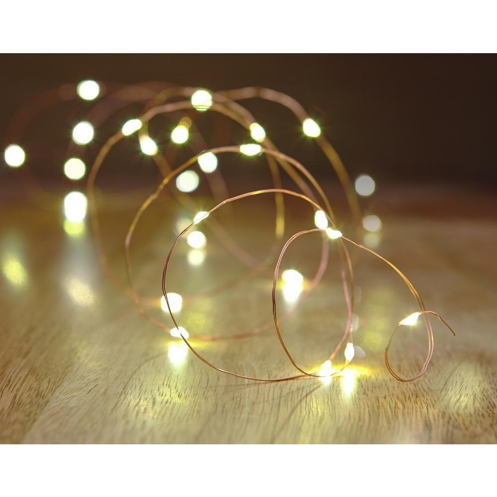 New Year Christmas Lights Copper Mini Light String Living Room Decor Battery