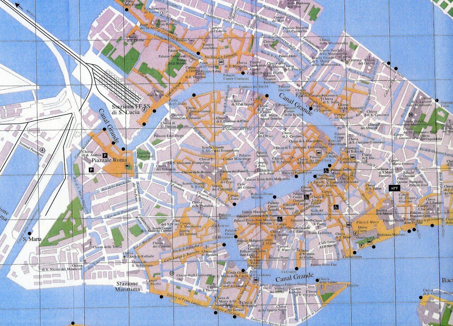 Venice Italy Tourist Map Venice Italy mappery Venice Padova