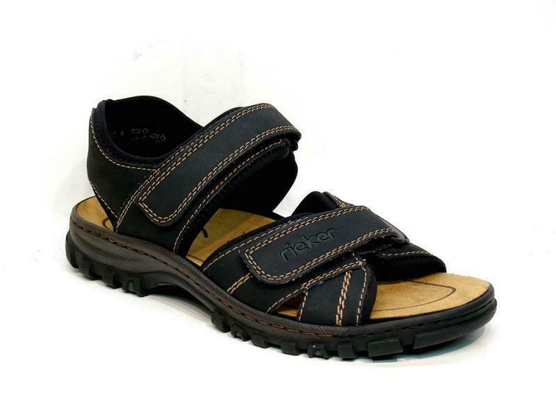 RIEKER Trekking Sandals 25051 01 Men Antistress Summer Shoes
