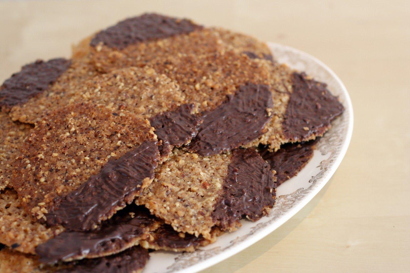 Chocolate Dipped Hazelnut Lace Cookie Recipe
