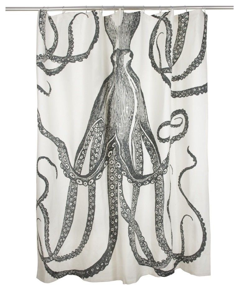 Thomas Paul Shower Curtain Octopus Eclectic Shower Curtains