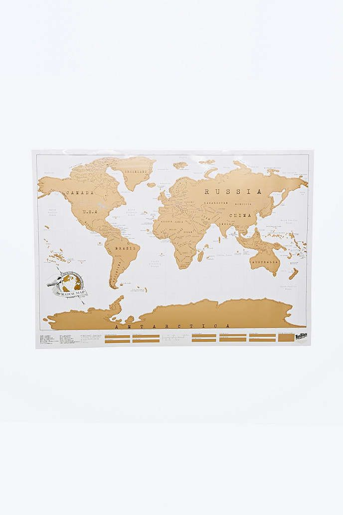Carte A Gratter Du Monde : carte, gratter, monde, Aranżacje
