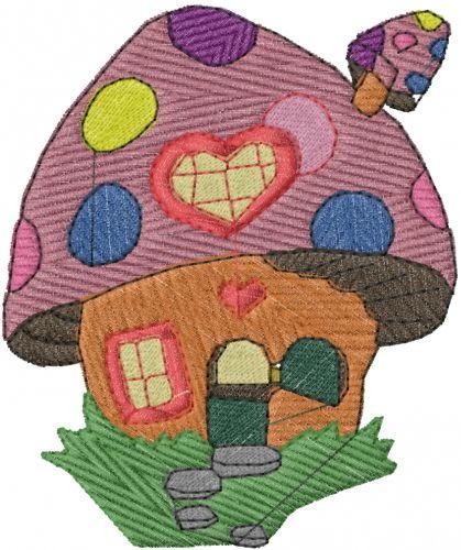 Mushroom House Embroidery Design Annthegran Free Embroidery