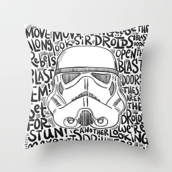 Sketch Stormtrooper Pillow - $27 - Star Wars Home Decor ...