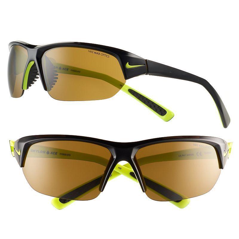 e4a5fdc86fa Nike Men s Skylon Ace Semirimless Wrap Sunglasses