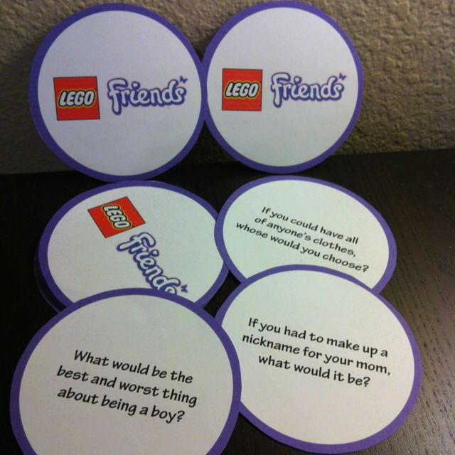 LEGO Friends Party Game Social Questions Just for Girls Party
