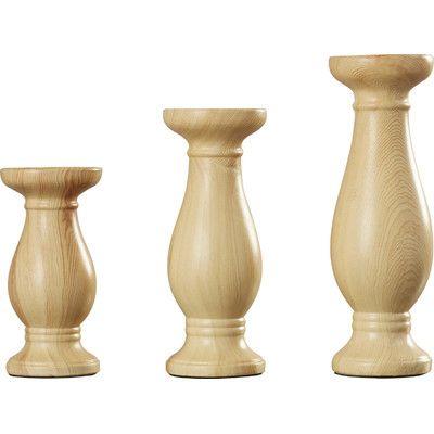 August Grove 3 Piece Ceramic Candlestick Set
