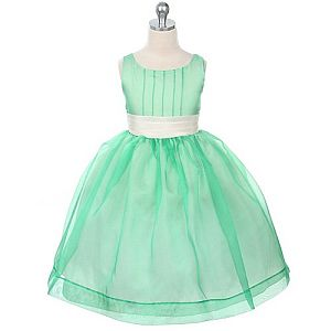 Vestidos verde agua largos para ninas