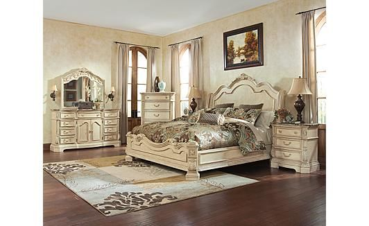 Ortanique Sleigh Bedroom Set, Ashley Furniture Ortanique Collection