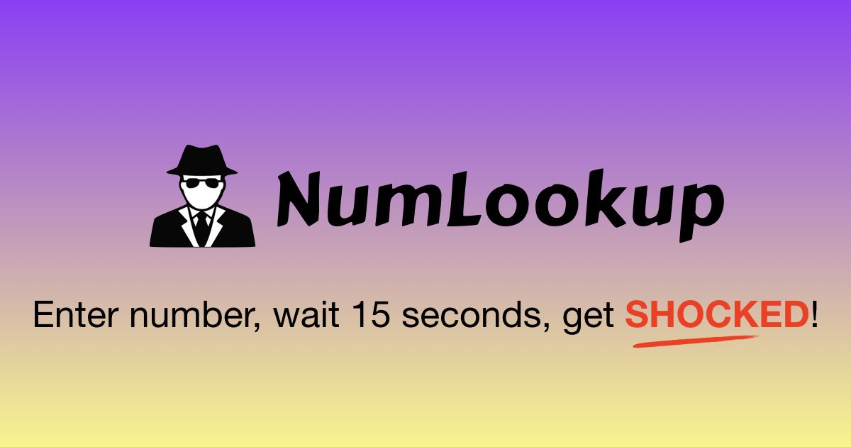 Numlookup Is A Seriously And Completely Free Reverse Phone Number