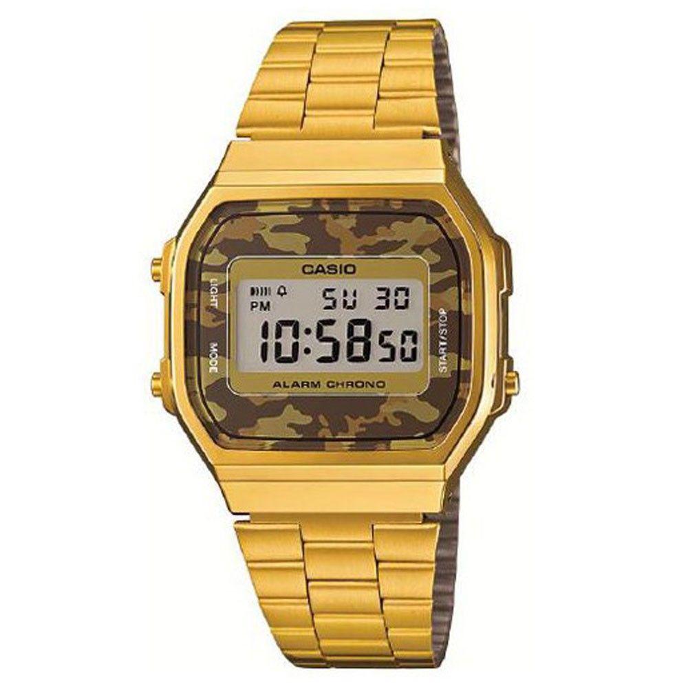 Casio retro gold plated camouflage chronograph watch a168wegc 5ef casio watches designer watches gumiabroncs Choice Image