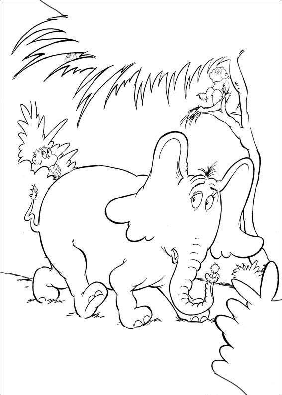 Dibujos para Colorear Horton 14 | Dibujos para colorear para niños ...