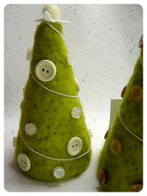 Plstený vianočný stromček