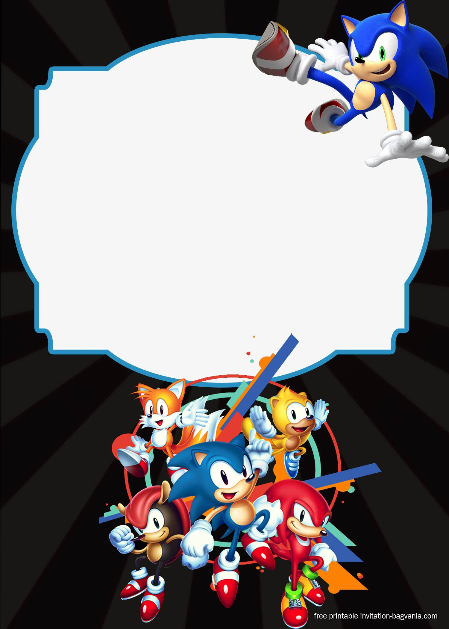 Awesome FREE Sonic The Hedgehog Invitation Templates Free
