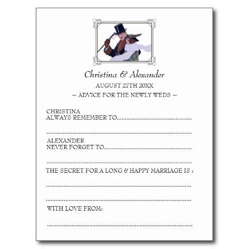 1920s Vintage Wedding Ideas: Vintage Wedding Ad Lib Cards Advice 1920's Theme