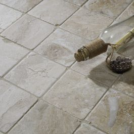 Vanilla Cream Tumbled Marble W F 100x100mm Tumbled Marble Tile Vanilla Cream Marble